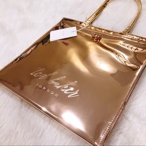 562dbcd1692 Ted Baker Bags | Rose Gold Jencon Large Icon Bow Handbag | Poshmark